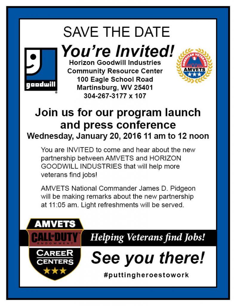 Program Launch Flyer for Martinsburg 1-20-16