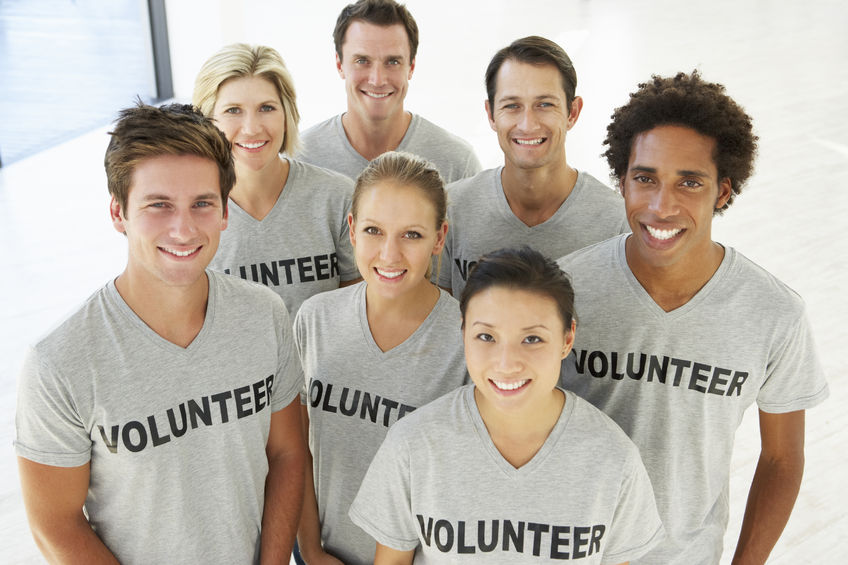A portrait of volunteer group