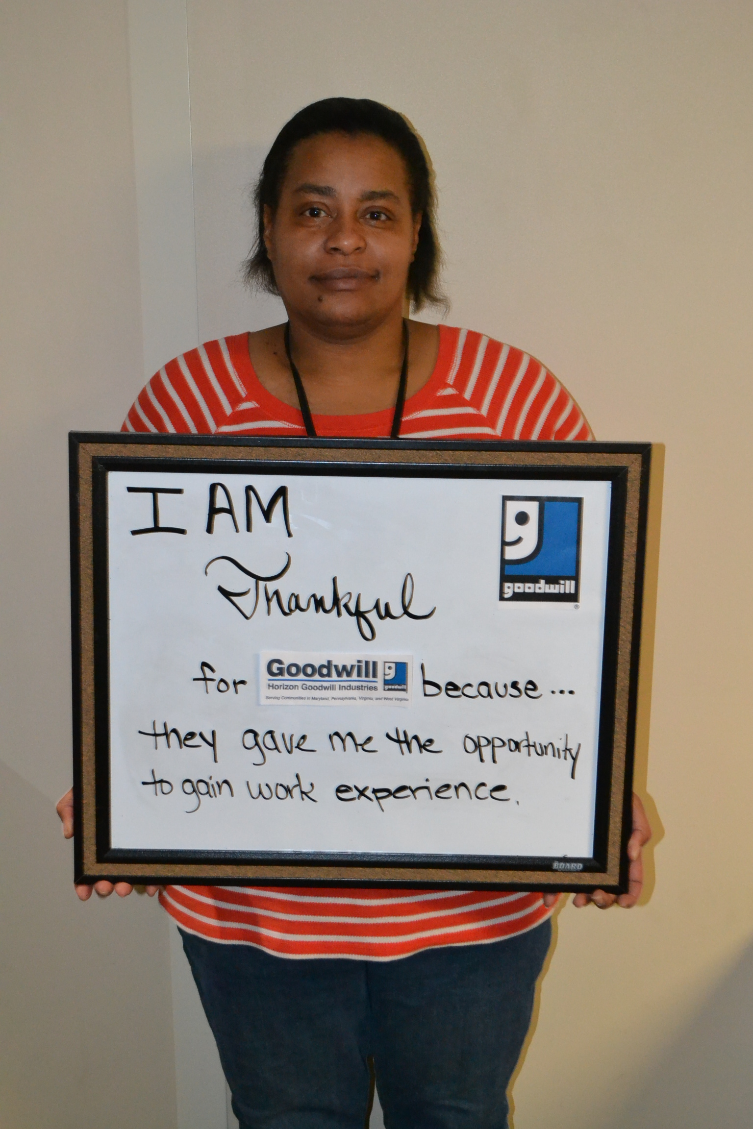"""DSC 0161 - Horizon Goodwill Asks """"What Are You Grateful For This Thanksgiving?"""""""