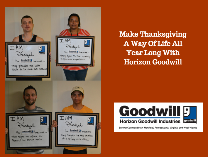 Tell Horizon Goodwill What You're Thankful For This Thanksgiving
