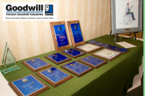 image awards on table 300x199 - Personal, Regional, National Impact Celebrated at our 61st Annual Awards Dinner!