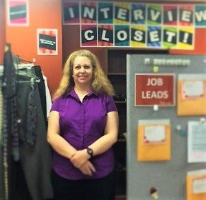 photo Cathys iPhone Dawn at the career closet mock job fair cumberland 300x290 - Local Employers Assist Horizon Goodwill's Job Seekers