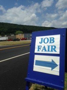 photo Cathys iPhone Job fair sign 225x300 - Local Employers Assist Horizon Goodwill's Job Seekers