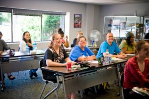 Training class at goodwill resource center