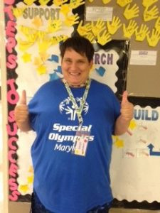 """image Cathys iPhone Wanda Webb Special Olympics e1470226067219 225x300 - It Takes A Lot of """"Work"""" to be a Special Olympian"""