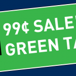 99 Cent Green Tag