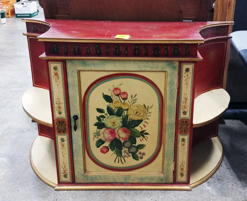 South End Store: Vintage Red and yellow floral TV stand!