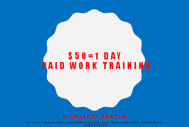 $50 = 1 Day Paid Work Training