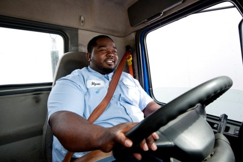 Goodwill Truck driver driving