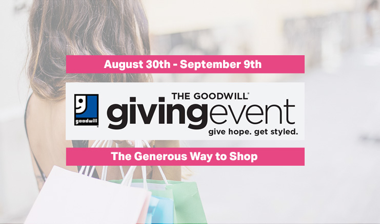 Giving Event: August 30th – September 9th!