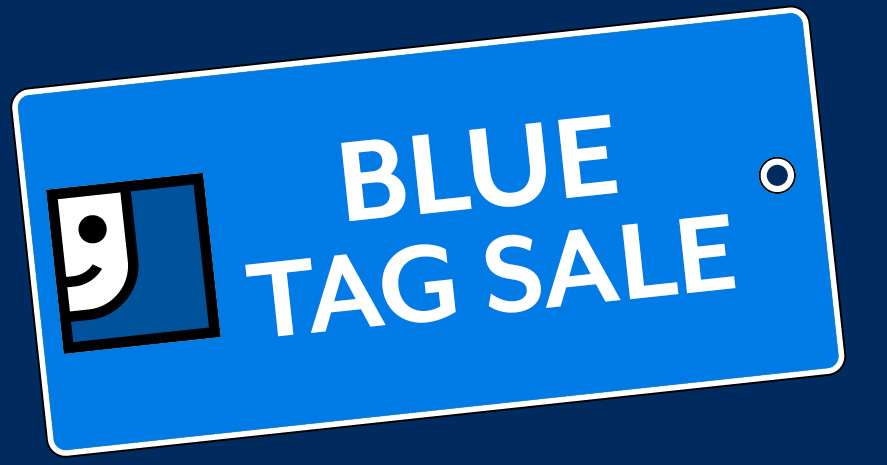 Blue Tag Sale!