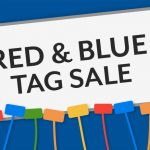 Blue and Red Tag Sale