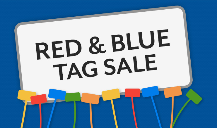50% off Color Sale! Blue And Red!