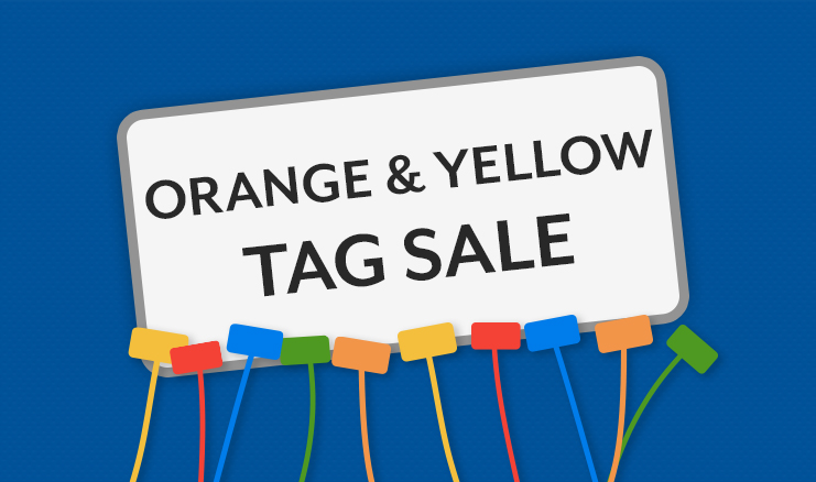 Yellow and Orange Color Tag Sale!