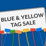 Blue & Yellow Tag sale