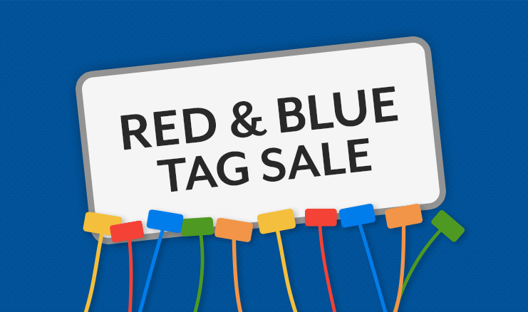 Red and Blue Color Tag Sale!