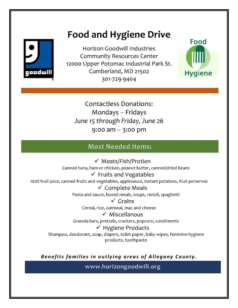 Food and Hygiene Drive-updated
