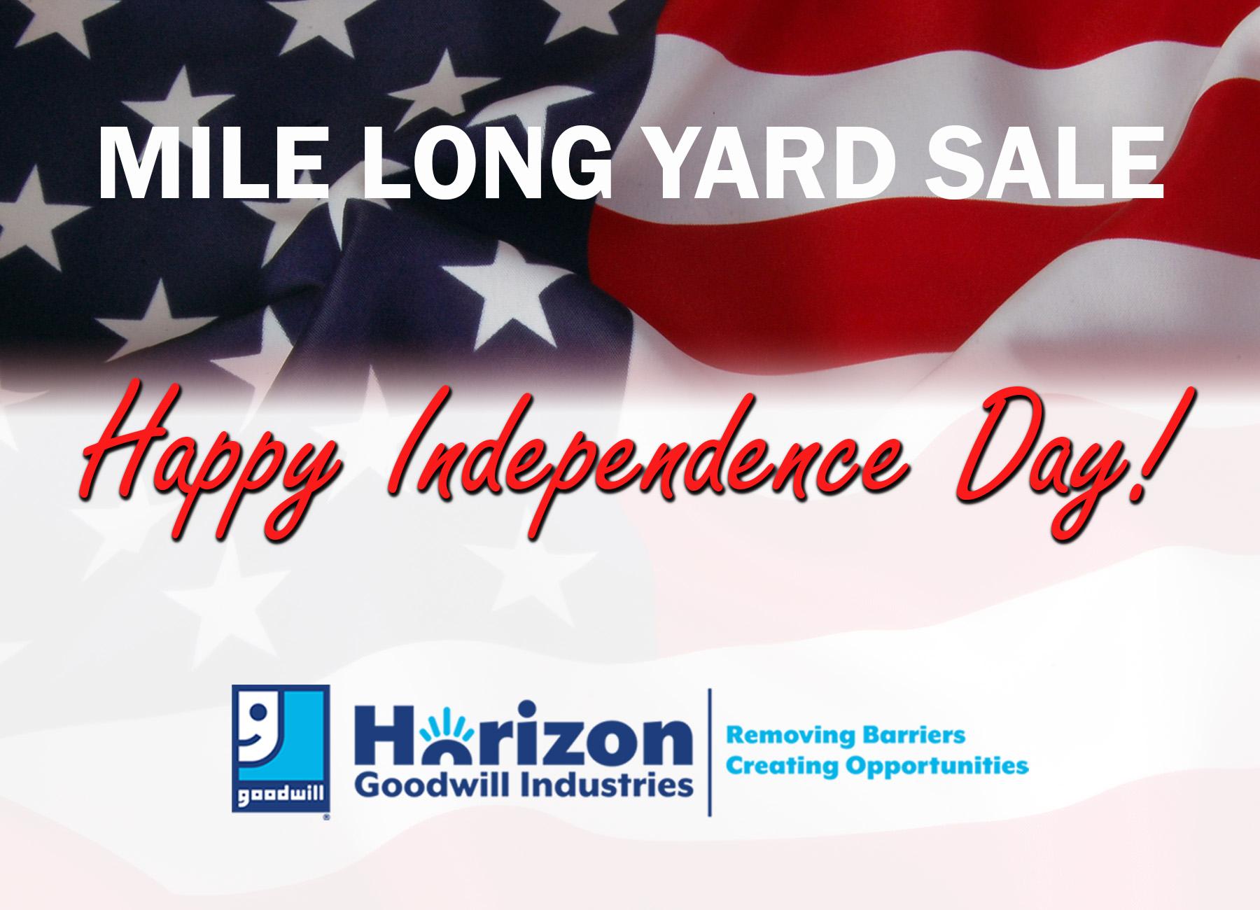 Mile-Long Yard Sale!